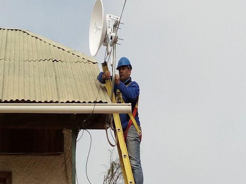 Sistema de videovigilancia IP con antenas Ubiquiti
