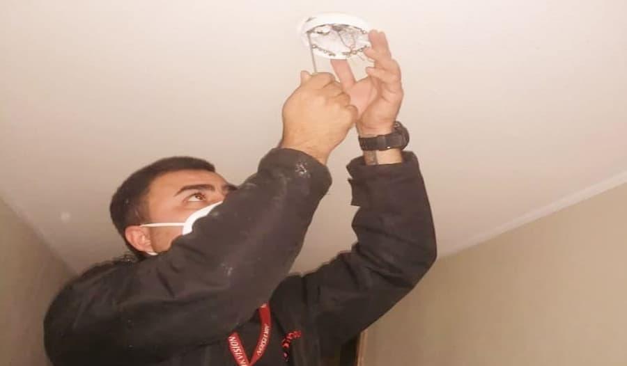 mantenimiento de sistema de alarma contra incendio